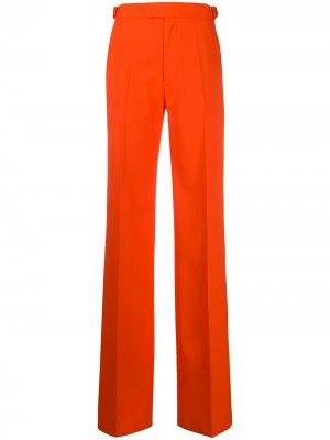 Широкие брюки с завышенной талией The Attico. Цвет: оранжевый