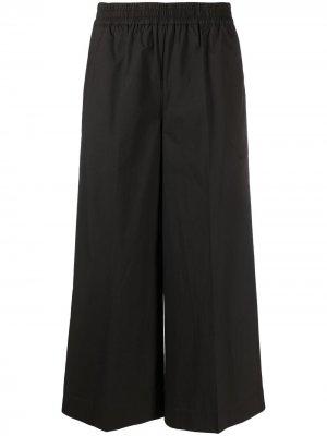 Укороченные брюки широкого кроя P.A.R.O.S.H.. Цвет: черный