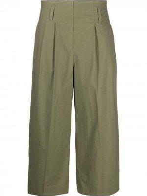 Укороченные брюки с завышенной талией Luisa Cerano. Цвет: зеленый
