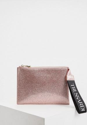 Клатч Trussardi Jeans. Цвет: розовый