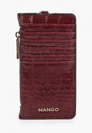 Кредитница Mango. Цвет: бордовый