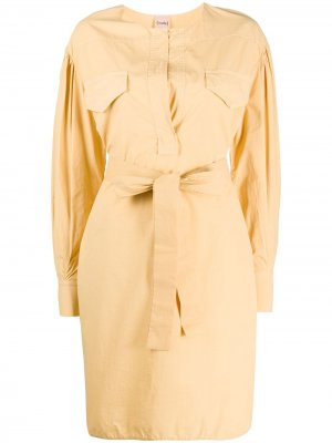 Платье-рубашка с поясом Nude. Цвет: нейтральные цвета