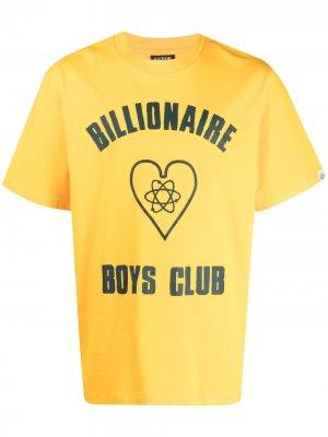 Футболка с логотипом Billionaire Boys Club. Цвет: желтый