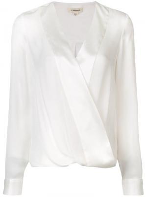 Блузка с запахом L'agence. Цвет: белый