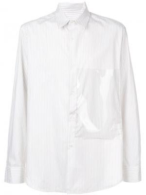 Рубашка с большим карманом Raf Simons. Цвет: белый