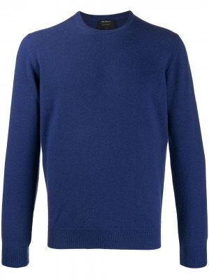 Delloglio кашемировый свитер с круглым вырезом Dell'oglio. Цвет: синий