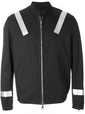 Куртка-бомбер с полосками Neil Barrett. Цвет: черный