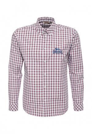 Рубашка Lonsdale. Цвет: бордовый