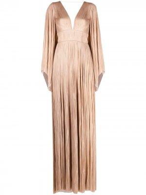 Плиссированное вечернее платье Zakiya Maria Lucia Hohan. Цвет: нейтральные цвета