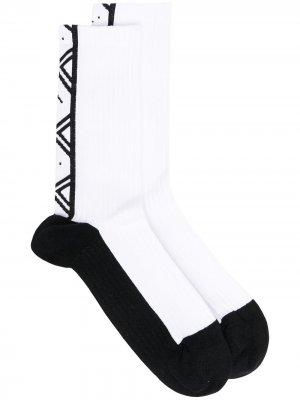 Face printed jacquard socks Acne Studios. Цвет: черный