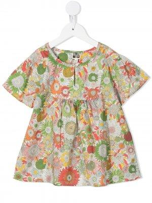 Блузка Liberty с цветочным принтом Bonton. Цвет: зеленый
