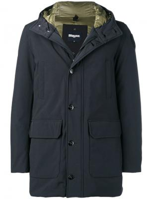 Hooded jacket Blauer. Цвет: черный