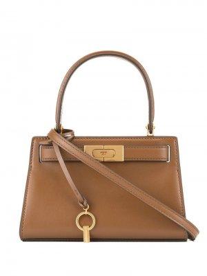 Маленькая сумка-сэтчел Lee Radziwill Tory Burch. Цвет: коричневый