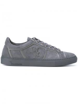 Кроссовки со шнуровкой Billionaire. Цвет: серый
