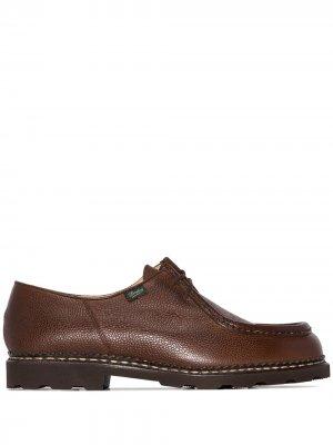 Туфли Michael Grain на шнуровке Paraboot. Цвет: коричневый
