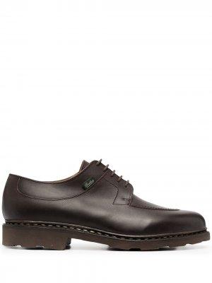 Туфли на шнуровке Paraboot. Цвет: коричневый