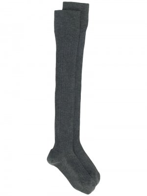 Длинные гольфы Brunello Cucinelli. Цвет: серый