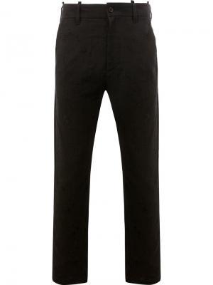 Фактурные брюки с потертой отделкой Ann Demeulemeester. Цвет: black