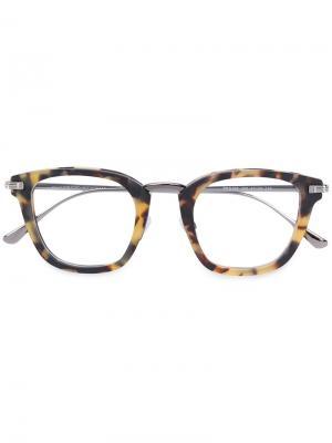 Очки с узором черепашьего панциря Tom Ford Eyewear. Цвет: коричневый