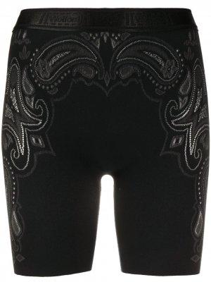 Облегающие шорты Om Wolford. Цвет: черный