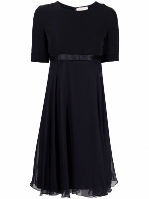 Расклешенное платье с бантом Nina Ricci. Цвет: синий