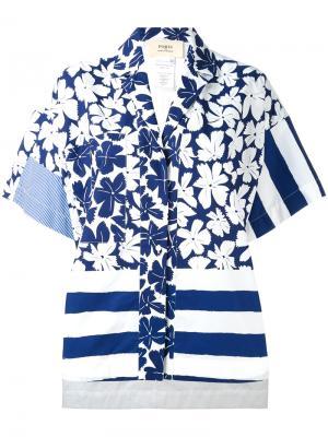 Свободная рубашка с цветочным принтом Ports 1961. Цвет: синий