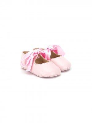 Балетки на шнуровке Gallucci Kids. Цвет: розовый