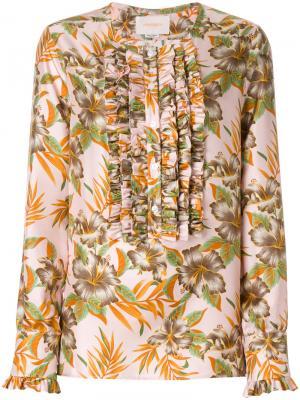 Рубашка Polinesia La Doublej. Цвет: розовый