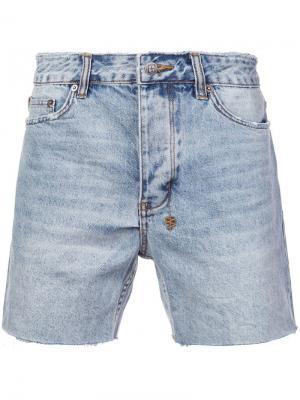 Джинсовые шорты Dagger Dan Ksubi. Цвет: синий
