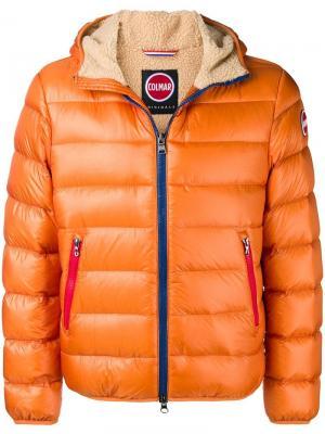 Пуховая куртка на молнии Colmar. Цвет: оранжевый