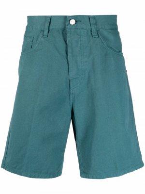 Джинсовые шорты с нашивкой-логотипом Carhartt WIP. Цвет: зеленый