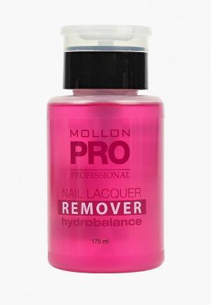 Средство для снятия лака Mollon Pro. Цвет: розовый
