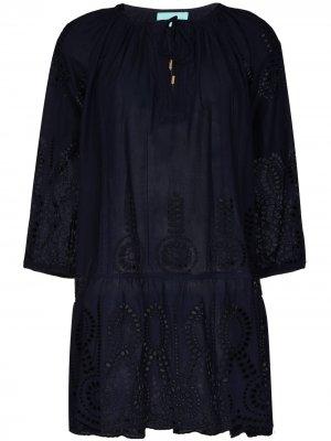 Пляжное платье мини Ashley Melissa Odabash. Цвет: синий
