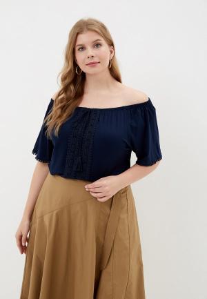 Блуза Evans. Цвет: синий