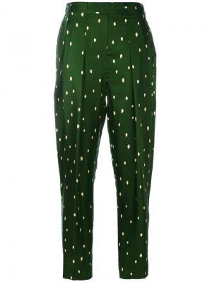 Классические брюки с узором в горох 3.1 Phillip Lim. Цвет: зеленый