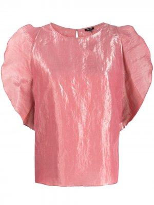 Блузка с оборками Aspesi. Цвет: розовый