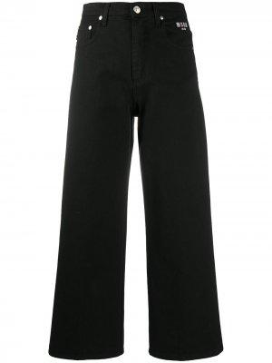 Укороченные расклешенные джинсы MSGM. Цвет: черный
