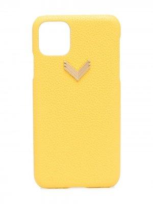 Чехол для iPhone 11 Pro Max с логотипом Manokhi. Цвет: желтый