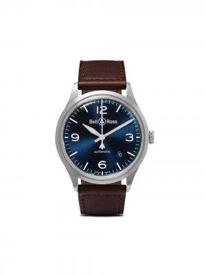 Наручные часы BR V1-92 Blue Steel 38.5 мм Bell & Ross. Цвет: голубой steel