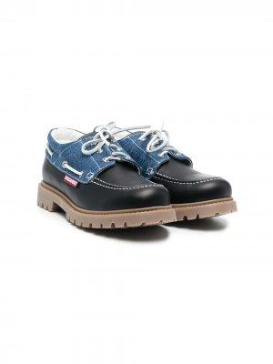 Туфли броги на шнуровке Dsquared2 Kids. Цвет: черный