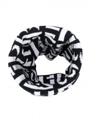Шарф с логотипом BOSS Kidswear. Цвет: черный