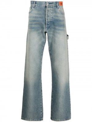 Расклешенные джинсы с завышенной талией Heron Preston. Цвет: синий
