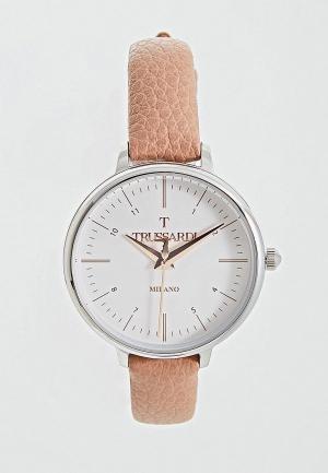 Часы Trussardi. Цвет: розовый