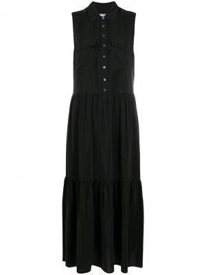 Платье-рубашка без рукавов Equipment. Цвет: черный