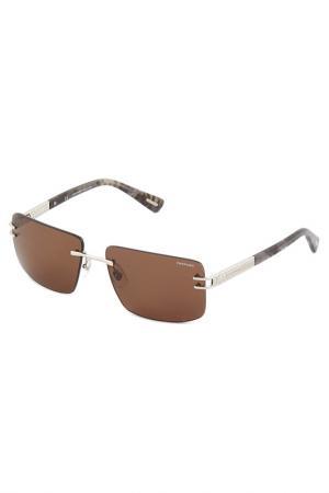Солнцезащитные очки Chopard. Цвет: серебряный