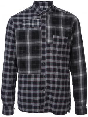 Рубашка в стиле пэчворк клетку Lanvin. Цвет: зеленый