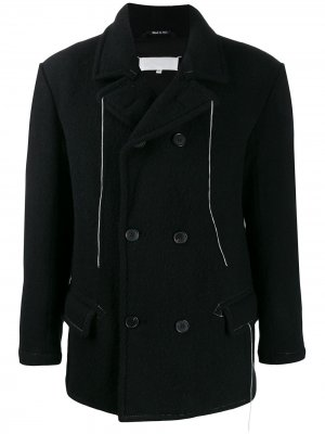 Двубортное пальто Maison Margiela. Цвет: черный