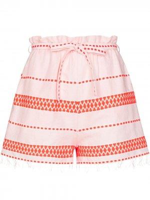 Полосатые шорты Jemari lemlem. Цвет: оранжевый
