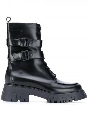 Ботинки с пряжкой Ash. Цвет: черный