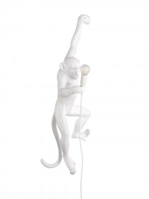 Лампа Hanging Monkey Seletti. Цвет: белый
